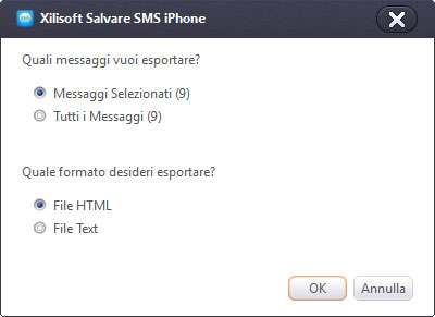 Come Salvare SMS iPhone su PC