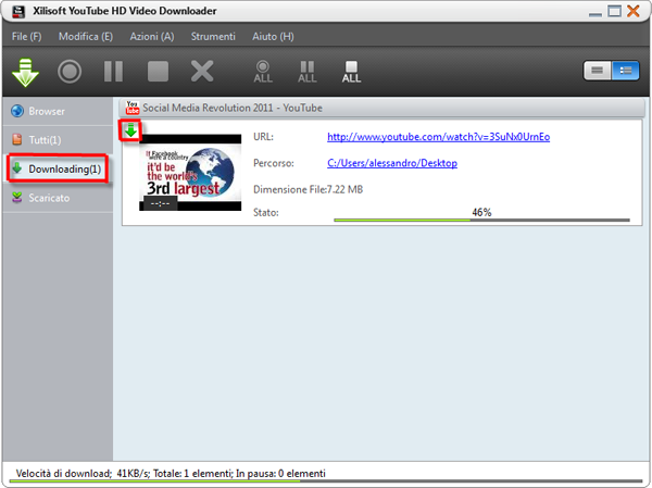 YouTube HD Video Downloader downloading